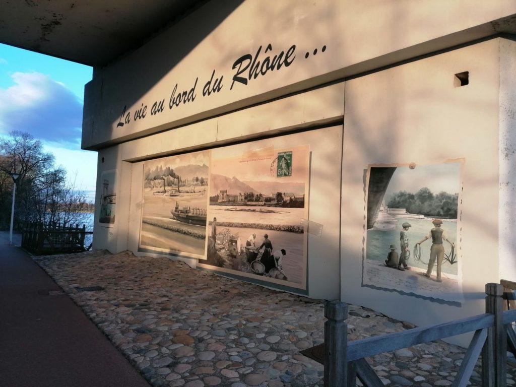 Bords du Rhône côté Ardèche à Guilherand-Granges